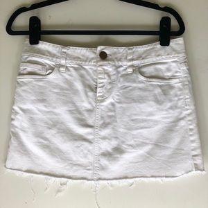 White Denim J.Crew Skirt